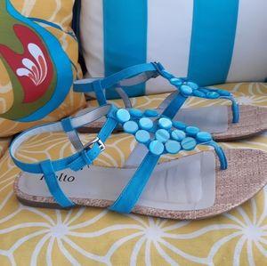 Rialto Rivera Turquoise Sandals 9M Blue